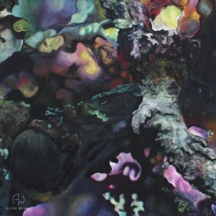 """""""Chimère végétale N°1"""" - 50 cm x 50 cm - 2016 - Gouache sur toile de lin"""