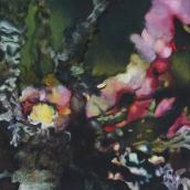 """""""Chimère végétale N°2"""" - 40 cm x 40 cm - 2016 - Gouache sur toile de lin"""