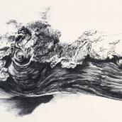 """""""Être de bois N°4"""" - 70 cm x 50 cm - 2017 - fusain naturel sur papier"""